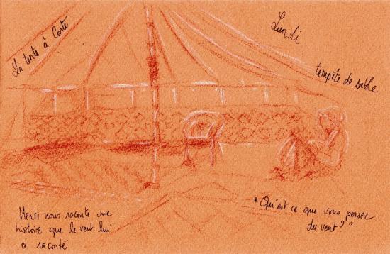 sous la tente à contes
