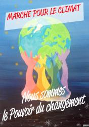 Affiche marche climat a completer sans lieu ni date