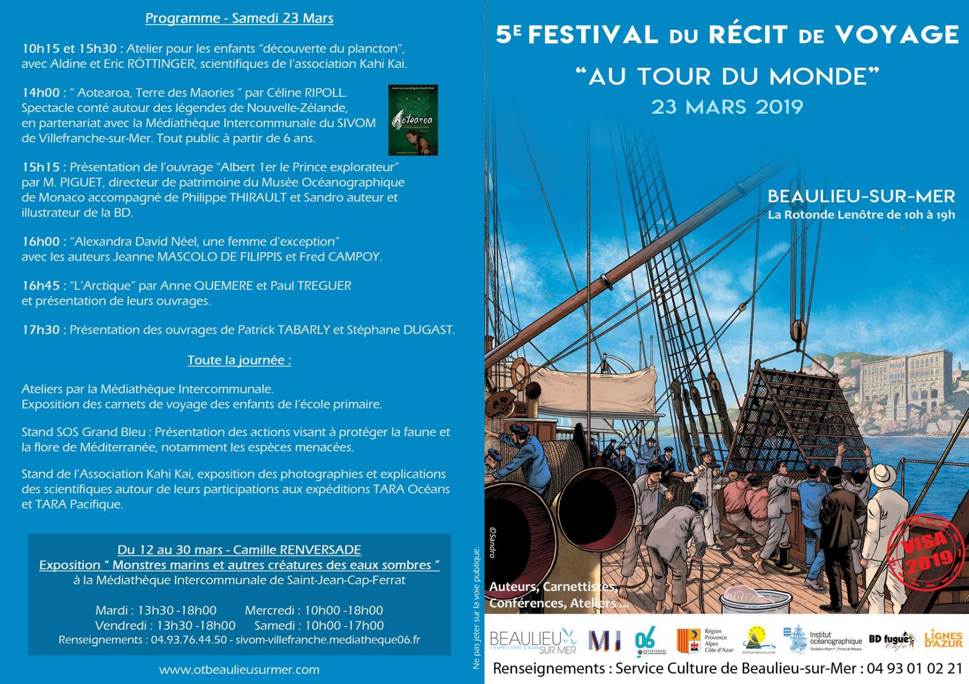 Festival du Récit de Voyage Beaulieu sur Mer