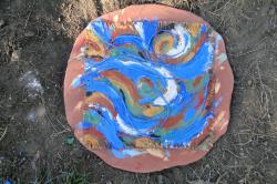 Pinceau de gaia drapeau de la terre oeuvre source juste finie merc 30 sept 2015 bonson arela valerie lhote