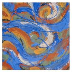 Pinceau de gaia drapeau de la terre profil arela valerie lhote